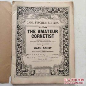 the amateur cornetist 业余吹奏者 卡尔费舍尔版本 老乐谱