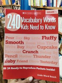 240 Vocabulary Words Kids Need to Know, Grade 1
