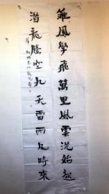 薛剑国-对联-雏凤学飞,万里风云从此起; 潜龙奋起,九天雷雨及时来。
