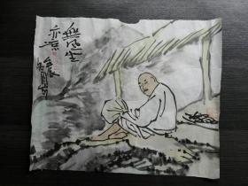 陈侗 国画《无风坐亦凉》