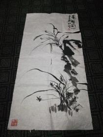 姚雷国画小品:蕙智兰心(18)98cm*50cm