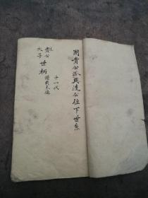 手抄本,家谱,国贵公派兴逵公位下世系。
