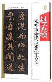 中国历代名碑名帖集字系列丛书:赵孟頫光福重建塔记集字古文