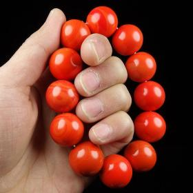 纯天然顶级南红玛瑙手链,温润无比堪比羊脂红玉手链可遇不可求值得永久收藏
