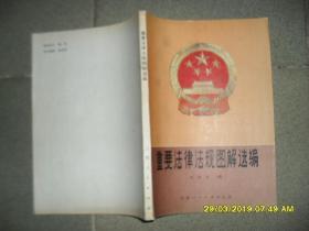 重要法律法规图解选编 (8品16开扉页有破损1984年1版1印37210册200页黑白及彩色连环画形式图解)44898