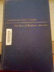 AMERICAN LITERATURE美国文学现实主义的兴起1860-1900