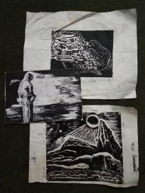 西安美术学院版画家:成文正作品一组三幅