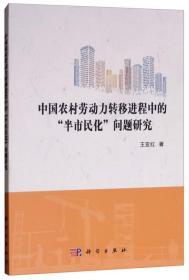 """中国农村劳动力转移进程中的""""半市民化""""问题研究"""
