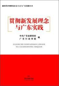 贯彻新发展理念与广东实践