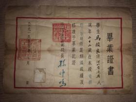1954年北京市工业学校毕业证书(北京建筑大学、北京建筑工程学院前身)