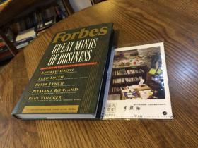 英文原版  Forbes Great Minds of Business : companion to the public television series 福布斯伟大的商业头脑