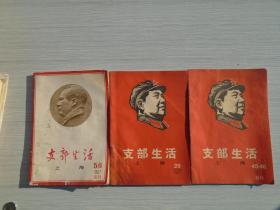 支部生活(周刊) 上海 1967年5.6合刊;29;45.46合刊。共计3本合售,其中29书脊下部有水迹霉斑严重,详见书影