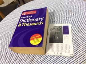 英文原版   Collins Paperback Dictionary & Thesaurus /