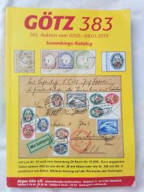GOTZ:383.2019  德文邮票内容   2本