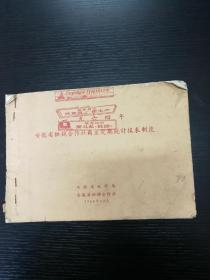 1964年安徽省供销合作社商业定期统计报表制度