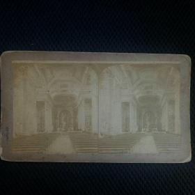 清代蛋白立体老照片(华丽大教堂)。