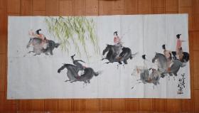 四川省著名画家彭先诚国画一幅,7.7平尺,保真出售!