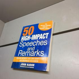 50 HIGH-IMPACT SPEECHES AND REMARKS】