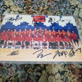 蓝球运动员姚明等签名照片+游泳运动员宁泽涛签名照片。西2(2一259)