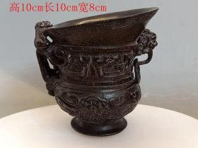 清代传世雕工不错的老杯子摆件