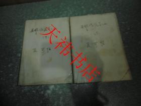 老武侠小说 英雄风流美人血(中、下)(2本合售)(书籍包有保护纸,书侧面有字迹)