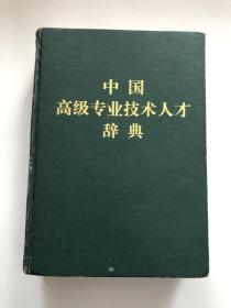 中国高级专业技术人才辞典 上&16开&工具书&精装&包邮