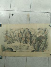 岷江欲雨,秦仲文绘1963初版77*47cm