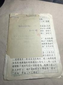 许晴(1969—,著名女演员)手稿《跟凌子风导演拍片》一份2页