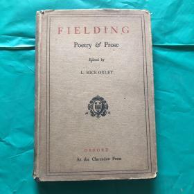 古本绝版收藏//// 1923年初版 《Henry Fielding:poetry & prose  》 (精装 )