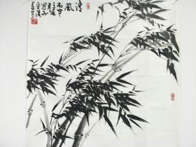 徐培晨恩师燕宇老师水墨竹子保真