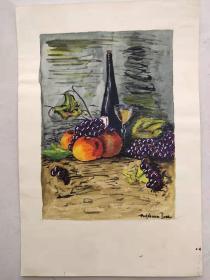 西洋 欧洲 水彩画  123 20x30 14x21cm 手绘 原稿 年代不详