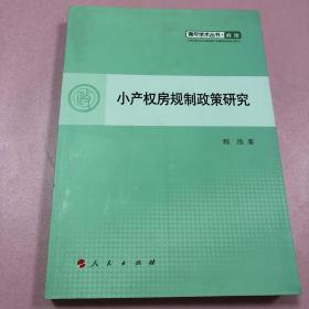 小产权房规制政策研究—青年学术丛书  政治(J)
