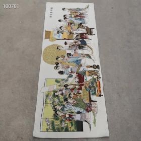 织锦布画 琴棋书画  。