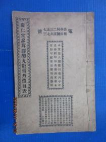 线装书   庆仁堂参茸胶醴丸散膏丹价目表