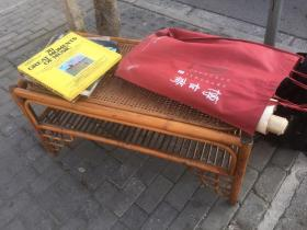 【铁牍精舍】【文房雅玩】解放前后竹编罗汉椅,品佳,102x51x51cm