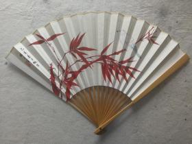 成扇014:杨正霖画扇,南伍书法