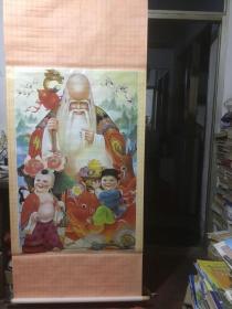 年画《寿星富贵图》(大号中堂)