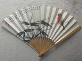 成扇015:杨正霖画扇,南伍书法(已售)