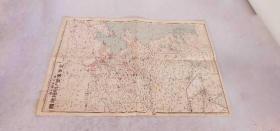 《北支事变 明细地图 》报知新闻社    昭和十二年  1935年
