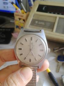 八十年代老上海全钢机械手表,品相好,不能正常走时,表盘直径30MM,很有年代感