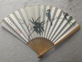 成扇016:杨正霖画扇,南伍书法(已售)