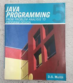 Java™ Programming: From Problem Analysis to Program Design