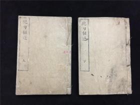 日本精抄本《绝名类选》2册21卷全,江户汉学者编辑的唐诗绝句选,分门别类。抄本系超薄纸,相当于原和刻本10册。