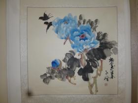 吉林著名画家张德君(笔名老枫):碧玉生香,斗方,69×69