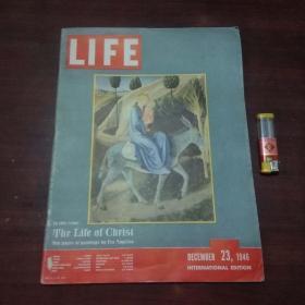 原版英文杂志:美国生活周刊(1946年12月23)(民国时期8开老期刊)(LIFE)