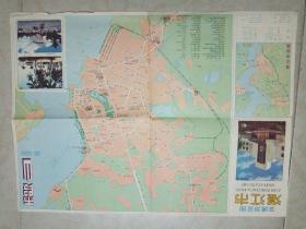 湛江市交通游览图 【86年1版1印】