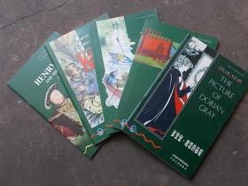 书虫牛津英汉对照读物:《多里安,格雷画像》《化学秘密》《风语河岸柳》《诱拐》《亨利八世和他的妻子》 5本合售