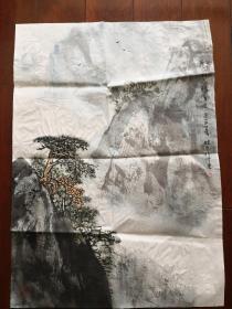 江苏省国画院山水画家,国家一级美术师,周晓光,净尺67*48【保真出售】