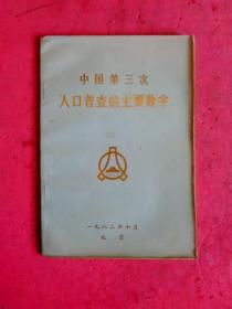 1982年 中国第三次人口普查的主要数字