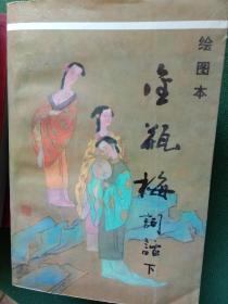 绘图本金瓶梅词话(上下册全)包邮